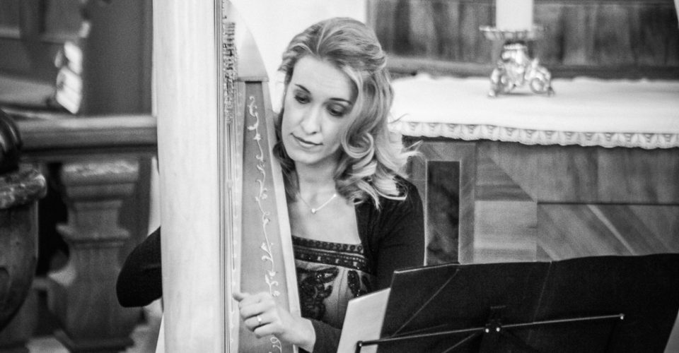 Johanna Keune, Harfe bei Hochzeit